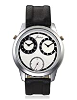 Jainx mens Tripple movement Black Genuine leather analouge watch