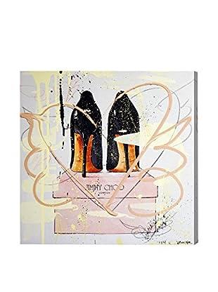 Oliver Gal Night Out Stilettos Remix Canvas Art
