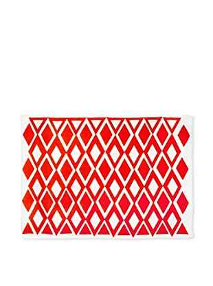 AphroChic The Beat Placemat (Coral/White)
