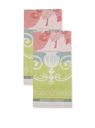 Garnier-Thiebaut Set of 2 Cerisier Rouge Kitchen Towels