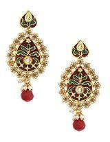Pan Leaf Meena And Kundan Earrings_ER926-122