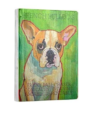 Ursula Dodge French Bulldog Reclaimed Wood Portrait