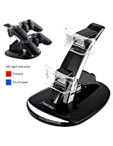 Dual Charging Station Compatible With Ps3 Controller Black