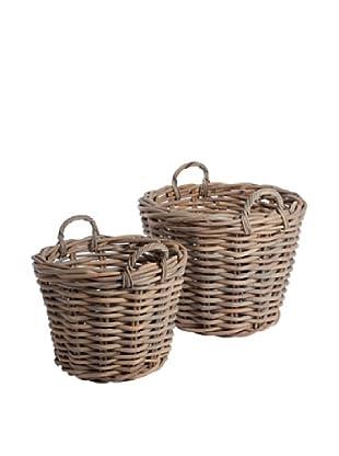 Napa Home & Garden Set of 2 Normandy Rattan Tree Baskets