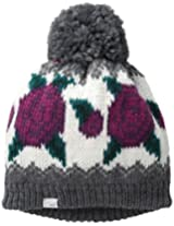 Coal Women's The Rose Wallpaper Knit Hat with Pom Pom, Charcoal, One Size