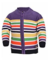 Yellow Apple Baby Boys 18-24 months Wool Sweater (Purple)
