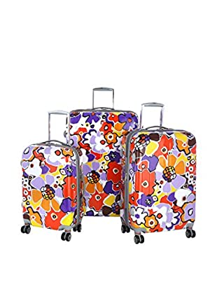 Olympia USA Blossom 3-Piece Hardside Luggage Set, Lavender