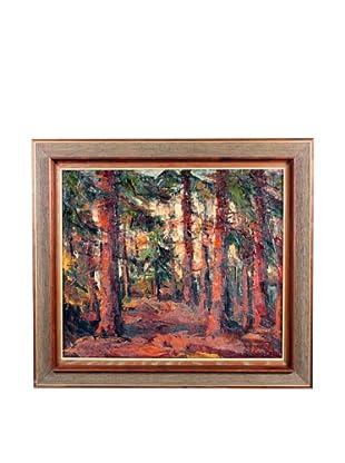 Forest, 1974, Orange/Brown/Green/Yellow/Beige/Black