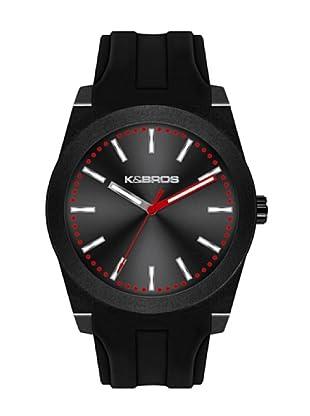 K&BROS 9560-6 / Reloj Unisex  con correa de caucho Negro