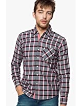 Checks Grey Casual Shirt As Original