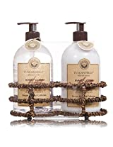 Tuscan Hills Cherry Blossom Gift Set - Handwash Hand Lotion in a Nice Caddy