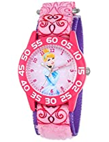 Disney kids' W001193 Cinderella Time Teacher Watch