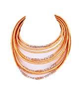 Monisha Daga Metal Choker For Women Pink - NE111-G