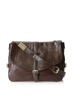 Foley + Corinna Women's Petra Cross-Body Messenger Bag (Bittercroc/Chocolate)