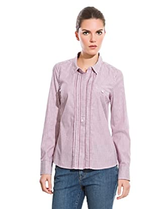 Cortefiel Camisa Rayas Bicolor (Burdeos)