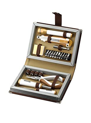 Wilouby 22-Piece Men's Tool Set in Brown