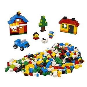 窓とタイヤが付いたレゴ基本セット