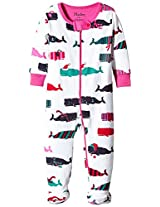 Hatley Baby Girls' Whales Footed Coverall