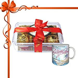 12pc Tempting Variety of Truffles with Mug - Chocholik Luxury Chocolates