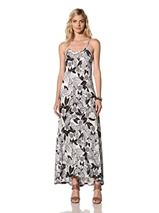 Thakoon Carbon Copy Women's Maxi Dress with Scoop Back (Black/White)