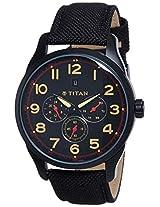 Titan Purple Multi-Function Analog Black Dial Men's Watch - 9479AF01J