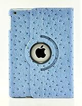 LiViTech(TM) Ostrich Design Series 360 Rotating PU Leather Case Smart Cover for Apple iPad Air, iPad 5 (iPad Air, Blue)