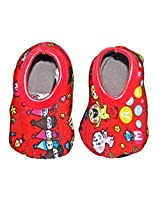 Stretchable Booties - Bright Red - 0 months & above- 11CM