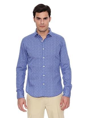 Pedro del Hierro Camisa Non Iron Sport Estampado (Azul)