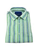 Linen Club Formal Shirt Green
