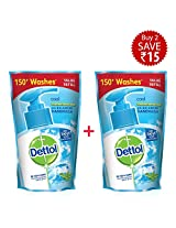 Dettol Liquid Soap Cool Refill Pouch - 2x185 ml (Rupees 15 Off)