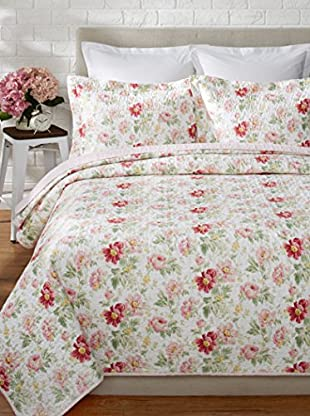 Laura Ashley Peony Garden Quilt Set
