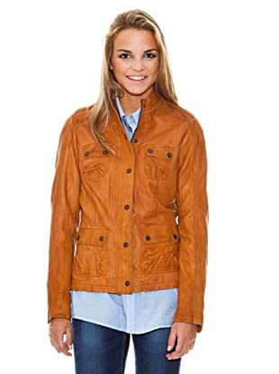 Maze Buttoned Jacket With Stand Up Collar Mujer (Camel)