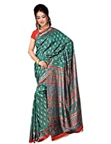 Kothari Printed Saree (KT089_Green)