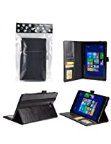Bear Motion Premium Folio Case for Dell Venue 8 Pro (Windows) Tablet (Dell Venue 8 Tablet Black)