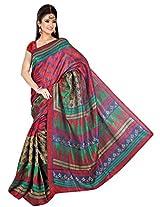 Khushali Fashion Tassar Silk Saree (Cn_Bs1004 -Maroon)