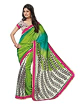 Green Color Art Bhagalpur Silk Saree with Blouse 11308