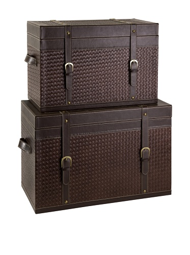 Imax Set of 2 Parliament Brown Trunks