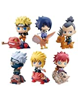 Naruto Cute Petit Chara Land Naruto Shippuden 5Cm Pvc Figure Set Of 6Pcs Nib