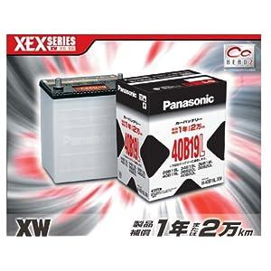 【クリックで詳細表示】Amazon.co.jp   274)パナソニックバッテリー N-40B19L/XW   車&バイク