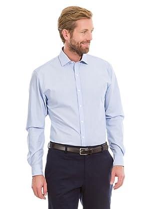 Cortefiel Camisa Lisa Vestir (Azul)