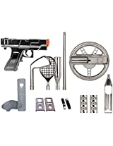 1 Wii 15 In 1 Kit Plus Sil, Nintendo Wii(R) 15 In 1 Players Kit Plus (Silver), Silver Items, Kit Includes: , 1 Racing Wheel, 1 Light Blaster, 1 Golf Club...
