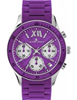 Jacques Lemans Men's 1-1586K Rome Sports Sport Analog Chronograph with Silicone Strap Watch