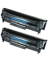 Amsahr TH-Q2612A/159 HP CM1415fn, CM1415fnw, CE320ABK Compatible Replacement Toner Cartridge