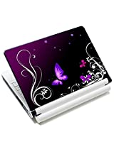 Meffort Inc 15 15.6 inch Laptop Skin Sticker Cover Art Decal Fits 13.3 14 15 16 Notebook PC (Free 2 Wrist Pad) - Purple Butterfly Design