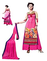 Women Pink coloured dress material