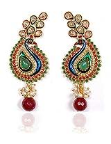Sunehri Ethnic Peacock Earrings for Women