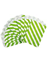 Party Partners Design 12 Count Paper Favor Bags, Lime Stripe