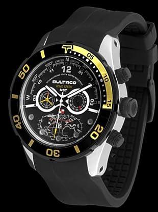 Bultaco H1AL48C-IB1 - Reloj Acero Collectors correa silicona negro