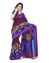 Vibes Women's Kashmiri Cotton Saree With Blouse (S33-6002A_Multi-Coloured)