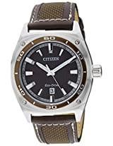 Citizen Eco-Drive Analog Brown Dial Men's Watch AW1051-09W